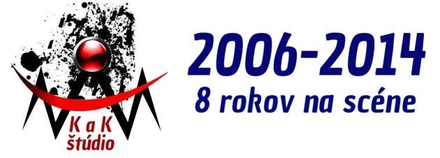 Logo K a K 2014 8 rokov na scéne NA BLOG